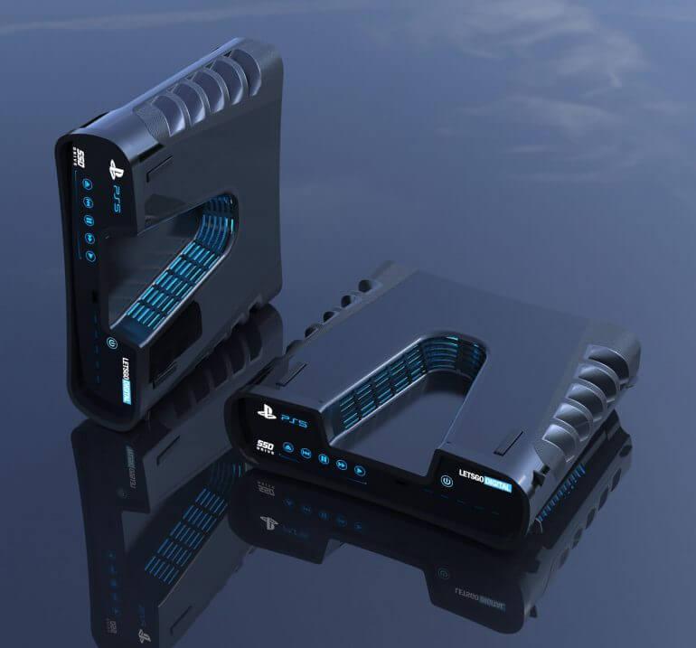 PS5の予想CG。開発用キットとのウワサも。