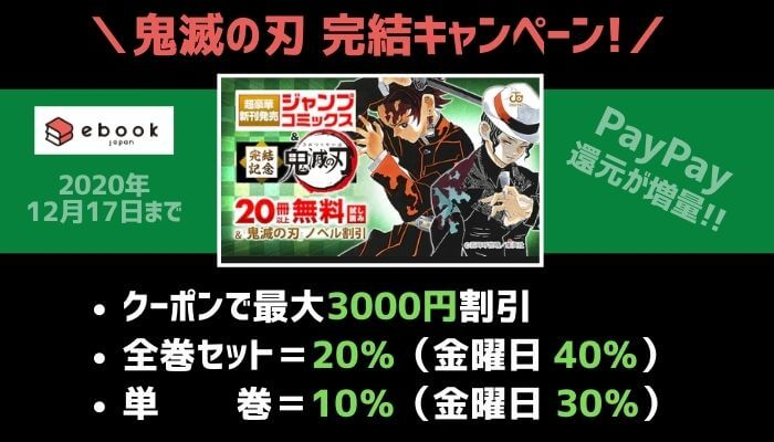 eBookJapan丨鬼滅の刃 完結キャンペーン