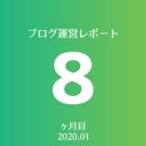 【2020年01月】ブログ8ヶ月目の運営レポート