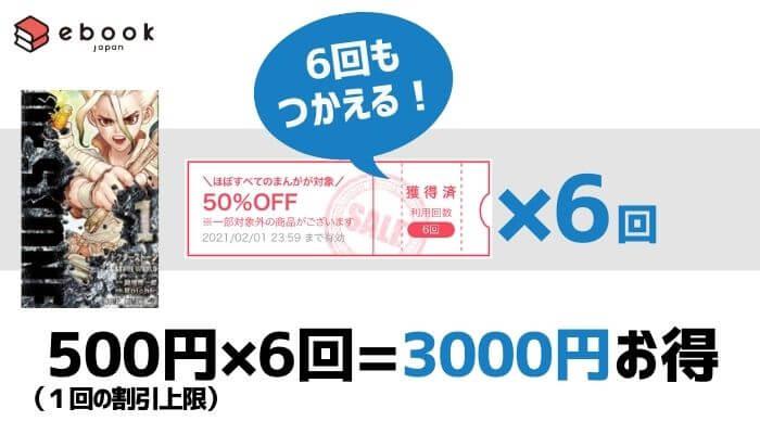 ドクターストーン┃eBookjapanのクーポンで3,000円お得に購入できる